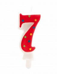 Bougie avec motifs chiffre 7