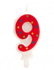 Bougie avec motifs chiffre 9