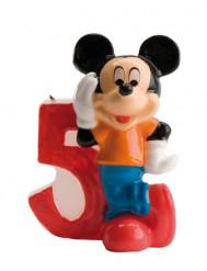 Bougie chiffre 5 Mickey™