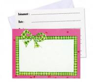 6 Cartes invitation + enveloppes Mon Poney