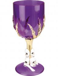 Verre violet à l'unité Halloween 17.5 cm