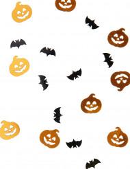 Confettis citrouille et chauve souris Halloween 14 grammes