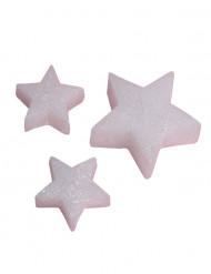 5 Bougies étoiles blanches