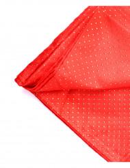 Nappe carrée en tissu rouge et or  140 x 140 cm