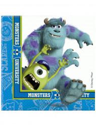 20 Serviettes en papier Monsters University™ 33 x 33 cm