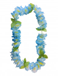 Collier fleurs hawaïennes bleues