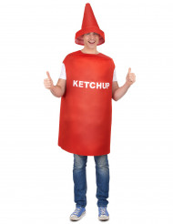 Déguisement pot de ketchup adulte