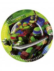 8 Assiettes en carton Tortues ninja™ 23 cm