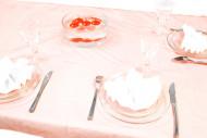 Nappe organza unie rouge 150 cm x 240 cm