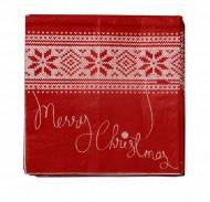 40 Petites Serviettes en papier Chalet de Noël 21 x 21 cm