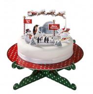 Décorations pour gâteaux pingouins Noël
