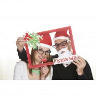 Kit photo booth kiss me Noël