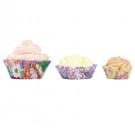 60 Moules à cupcakes 3 tailles Thé entre copines