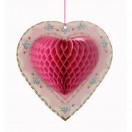 3 Décorations à suspendre coeur