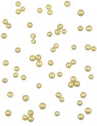 Mini boules dorées pailletées 0.8 cm