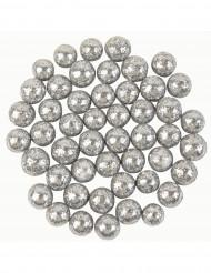 Sachet 10 g mini boules argent pailletées
