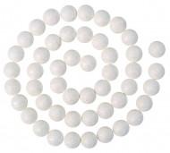 Guirlande boules pailletées blanc