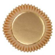 36 Mini moules à mignardises dorés satiné