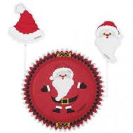 24 moules à cupcakes et pics de décoration