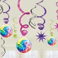 12 Décorations à suspendre Disco Boule à facettes