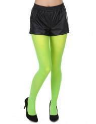 Collants vert fluo adulte