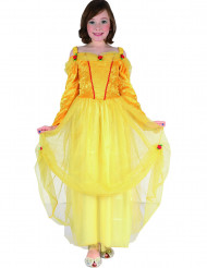 Déguisement princesse jaune fille