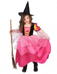 Déguisement sorcière rose fille