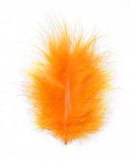 Plumes orange de décoration 10 grammes