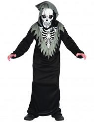Déguisement squelette faucheur garçon