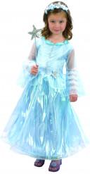 Déguisement princesse bleu de luxe fille