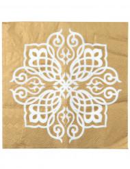 20 Serviettes en papier Mariage Oriental  33 x 33 cm