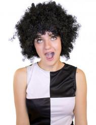 Perruque afro/ clown noire basique adulte