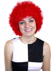 Perruque afro/ clown rouge basique adulte