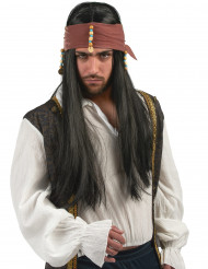 Perruque pirate homme