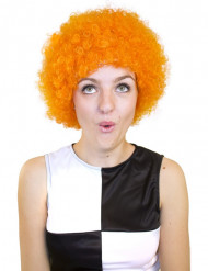 Perruque afro/ clown orange basique adulte