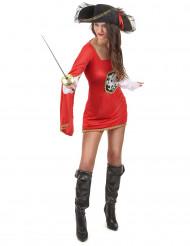 Déguisement mousquetaire rouge femme