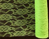Chemin de table dentelle vert anis 5 mètres