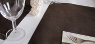 20 Sets de table intissé chocolat