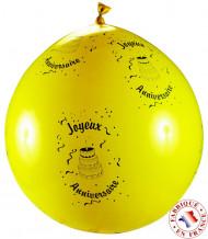 Ballon géant  joyeux anniversaire avec 100 g confettis
