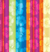 Nappe fleurs Hawaï  137 x 274 cm