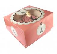 2 Boîtes à cupcakes Tour Eiffel Parisienne