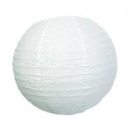 Lanterne japonaise dentellée blanche 35 cm