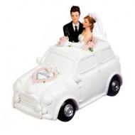 Tirelire Couple mariés en voiture