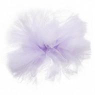 Pompon tulle à suspendre lilas 30 cm