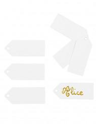 24 étiquettes à pochons blanc 5 x 2 cm