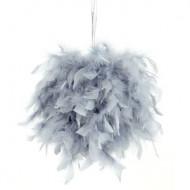 Boule à suspendre grise 20 cm
