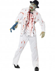 Déguisement gangster blanc zombie homme Halloween