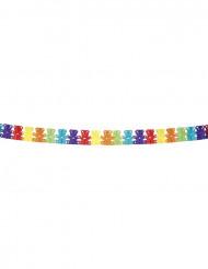 Guirlande multicolore papier nounours 4 mètres