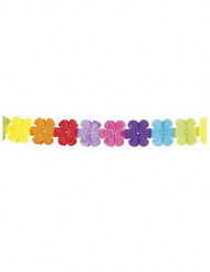 Guirlande multicolore papier fleurs 4 mètres