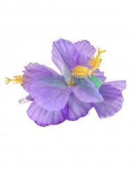 Barrette fleur violette Hawaï